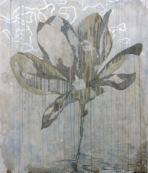 Belinda Fox, Title: Hiatus II, 2011. Size: 140 x 120cm. Medium: watercolour, drawing on board