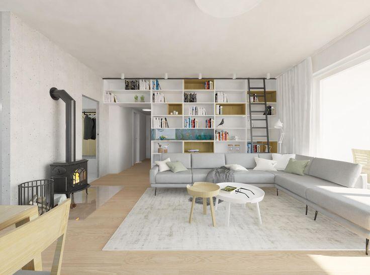 Útulná obývačka s kachľami