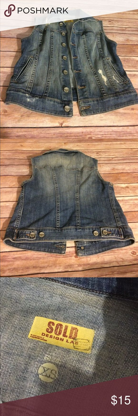 Sold Design Lab Hollister Distressed Denim Vest Excellent condition. Hollister Sleeveless jean vest. 👜Submit a bundle of 3 or more items for 20% off!  Any item or bundle over $20?  Take $5 off the price listed. It's like getting almost free shipping!  If those options don't work for your needs, feel free to just submit an offer! 👜.       🚫Smoke free, pet free home. No trades. 🚫 SOLD Design Lab Jackets & Coats Vests