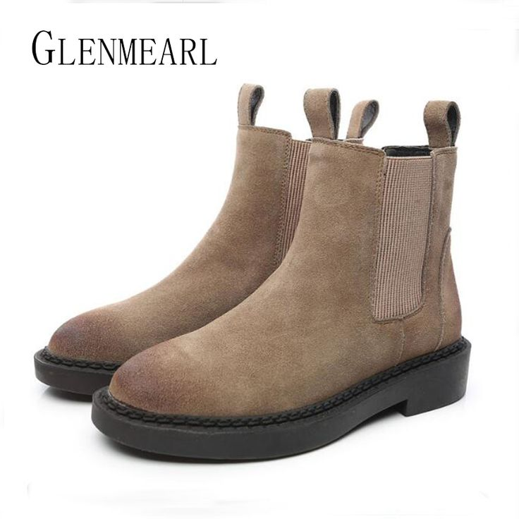 Cheap chelsea boots, Buy Quality womens chelsea boots directly from China boots brand Suppliers: Genuine Leather Women Chelsea Boots Brand Winter Warm Short Ankle Boots Plus Size Platform Single Flats Martin Shoes Woman 30