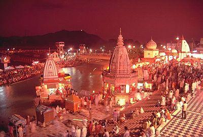 Har ki Pauri on the banks of the Ganga River. Haridwar, India
