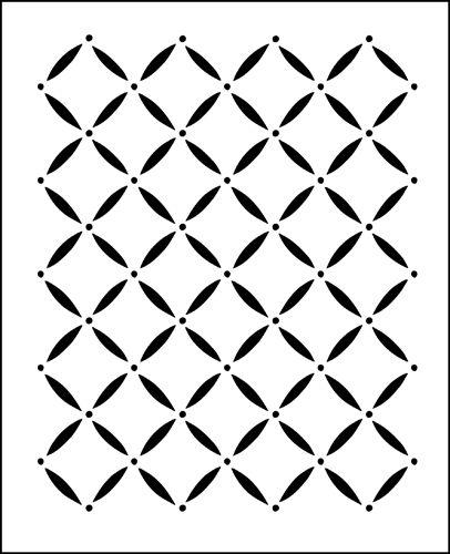 Lattice Repeat stencil from The Stencil Library online catalogue. Buy stencils online. Stencil code F32.