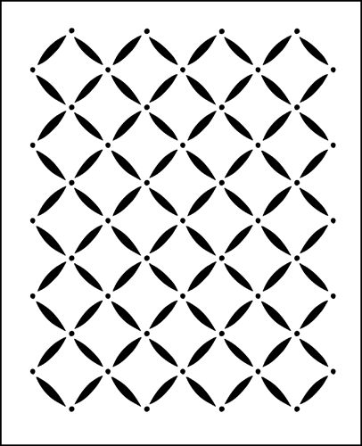 Lattice Repeat stencil from The Stencil Library online catalogue. Buy stencils online. Stencil code F32.