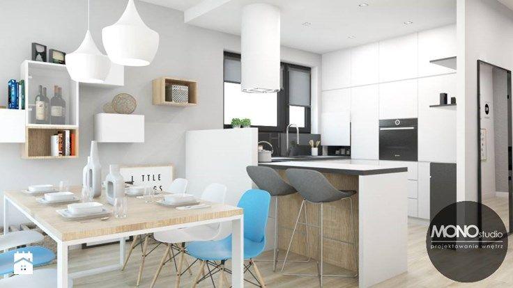 Kuchnia w bieli i czerni - zdjęcie od MONOstudio
