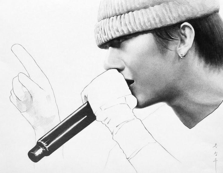 우원재 - 샤프드로잉, 4절사이즈, 인물드로잉, 인물화, 지우개사용안함! drawing / only sharp artist / sung su - song . korean / art , #우원재 #인물화 #쇼미더머니