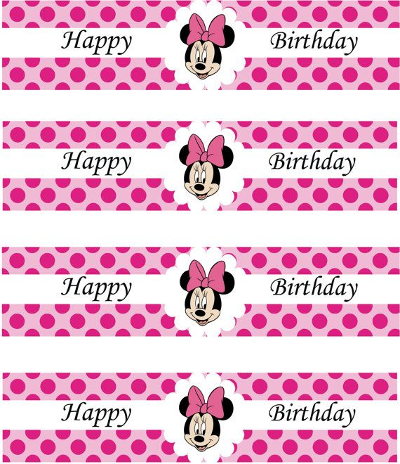 80% OFF SALE Minnie Mouse Birthday Party Water by allforparty