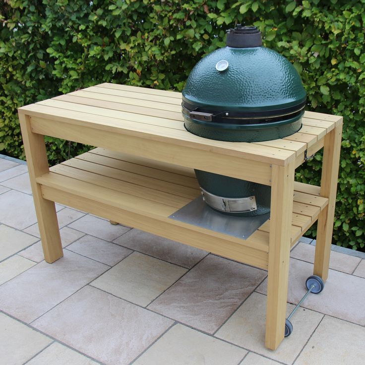 Big Green Egg - large table, own design, own execution  #biggreenegg #table #barbecue #doityourself