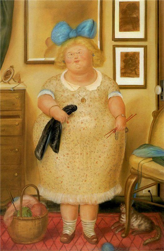 Fernando Botero - The Old Maid