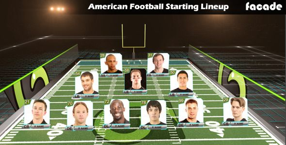 American Football Starting Lineuphttp://videohive.net/item/american-football-starting-lineup/11933150?ref=facade    #football, #american, sports, starting lineup, college