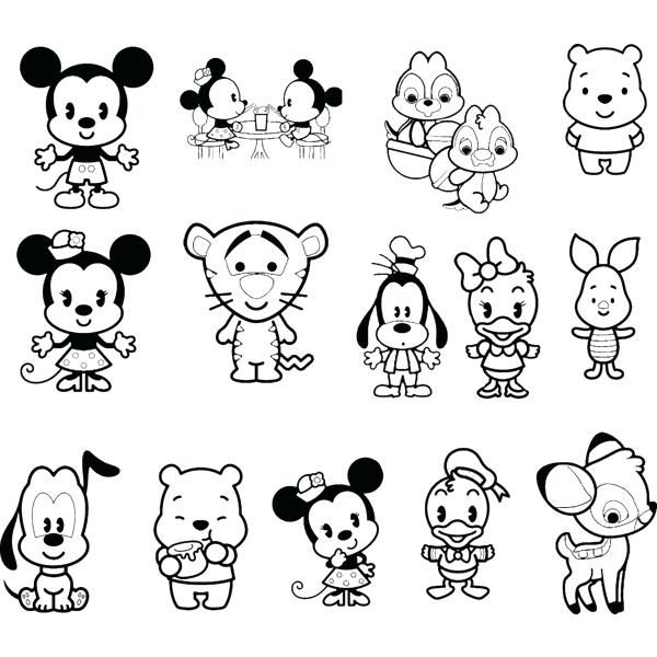 96 Coloring Pages Cute Disney  Images