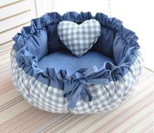 В стиле принцессы милые собаки кошка кровать Дом Подушка питомника ручки диван с Подушка теплый спальный мешок Новое поступление 1 шт.