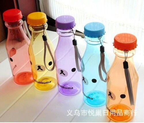 Different Colored Rilakkuma Bottles