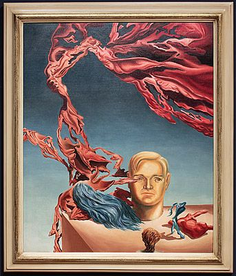 Surrealism - James GLEESON Hornsby, New South Wales, Australia 1915 – Sydney, New South Wales, Australia 2008 England, Europe 1947-49 Europe, United States of America 1958-59 Neo-organic figuration describing the inclination of entities 1939 Place made: Sydney, New South Wales, Australia Materials & Technique: paintings, oil on canvas  Primary Insc: signed lower right in image ' Gleeson 39 ' Dimensions: 88.0 h x 72.5 w cm