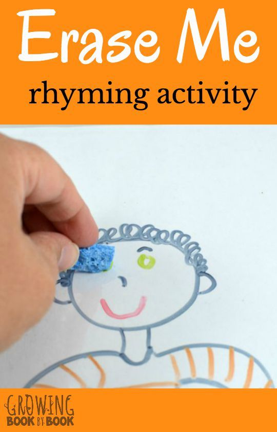 Build phonological skills with this rhyming activity. It's super easy and fits great with an all about me theme study too.