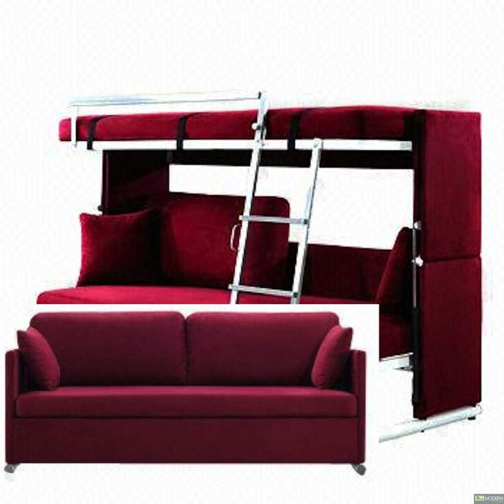 Alana Modern Convertible Sofa converts to Bunk Bed   Sofa ...