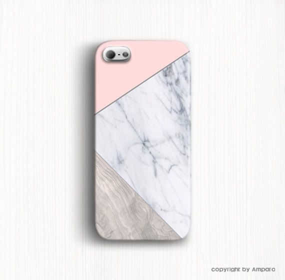 iPhone 5c case Marble phone case Wood geomtric case by AmparoCase