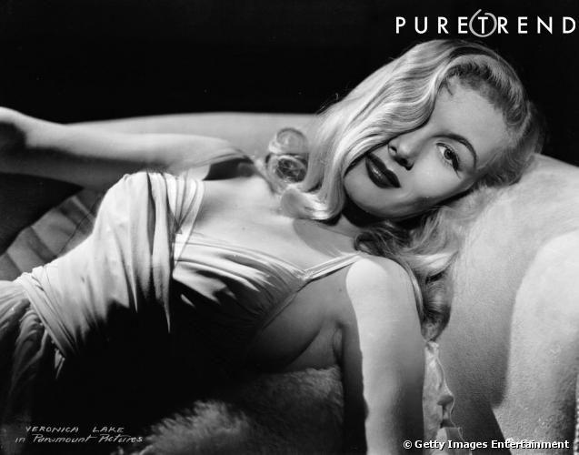 Comment on se coiffait dans les années 40 ?     Nom  : Veronica Lake      Coiffure :  le long wavy et sa célèbre mèche qui lui cachait la mo...