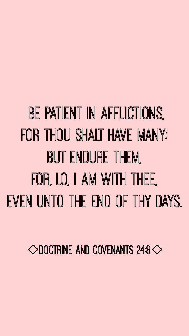 Doctrine and Covenants 24:8 #ponderizing