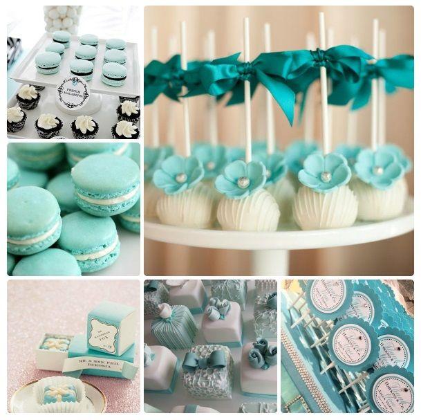 Casamento azul Tiffany - docinhos delicados e apetitosos