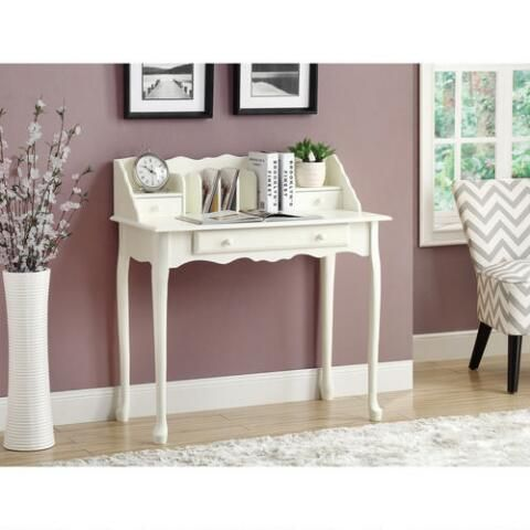Monarch Specialties Inc. Secretary Desk - Antique White