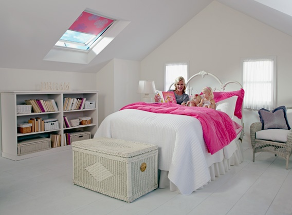 Velux (1) FS S06 Fixed skylight with 3184 blackout blind