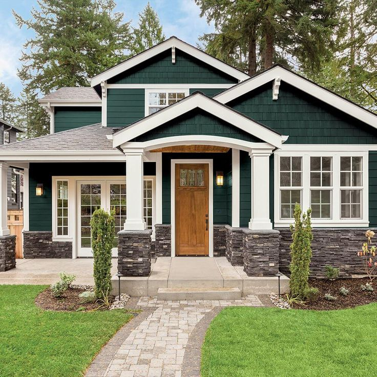 Beautiful Home Exterior Colors: PPG TIMELESS 1 Gal. PPG1145-7 Night Watch Semi-Gloss