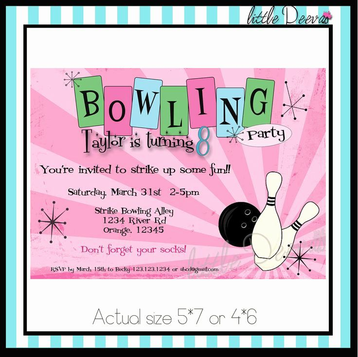Bowling Party Invitation Templates Free Lovely Best 25 Bowling Party Bowling Party Invitations Bowling Birthday Party Invitations Bowling Birthday Invitations