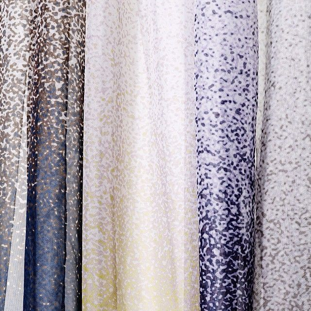 Aggebo & Henriksen's poetic curtain collection for Kvadrat on show at SSF this week. Drizzle for Kvadrat