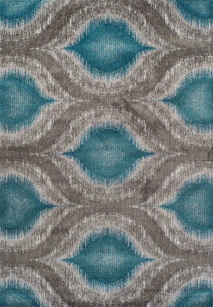 Modern Greys MG4441 Teal Rug