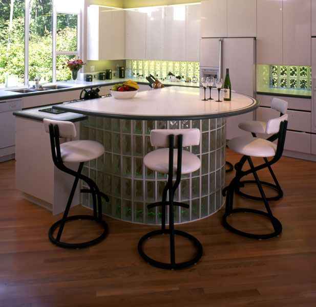 9 Standout Kitchen Islands: 26 Best Images About Glass Block In Kitchen Designs On