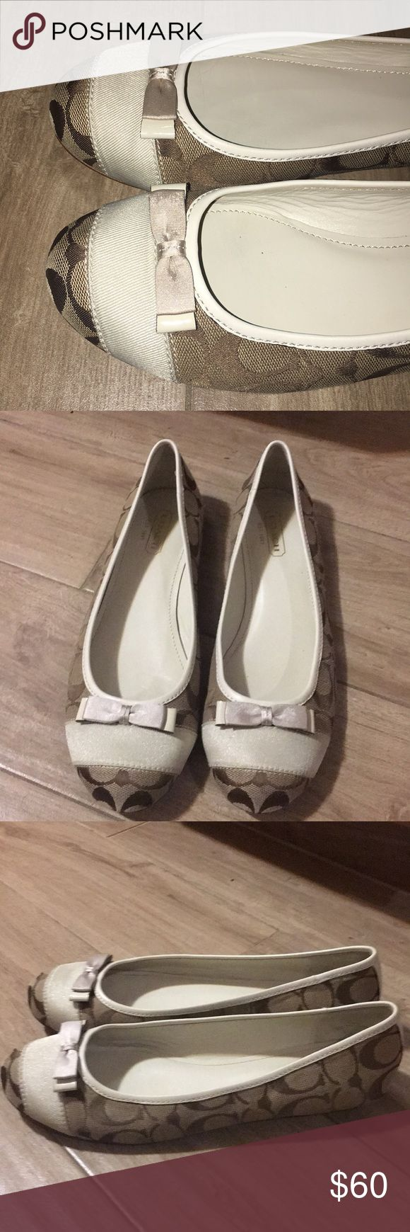 Beautiful Coach Flats Beautiful authentic Coach flats. Excellent condition outside only souls looks used otherwise looks great. No flaws at all. Size 9.5. Retail $118 paid $78. Coach Shoes Flats & Loafers