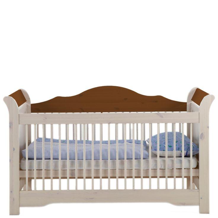 Babyzimmer Freja Babybett 70x140 Kiefer massiv White Wash Provence
