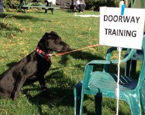 Doorway training.