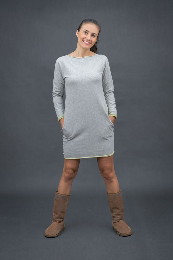 TUNIKA DRESOWA TWO FACE  Sweatshirt dress with long sleeves www.thesame.eu