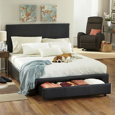 beds headboards u0026 frames our queen platform storage bed has a rich modern look and hidden storage buy now pay later credit shopping at seventh avenue