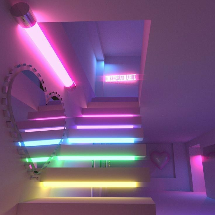 neon bedroom aesthetic rainbow lights lighting purple led vibe strip rooms seductive theme af trendy booyabobby trippy chilled smoke quote