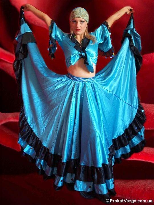 Женские костюмы для цыганского танца.