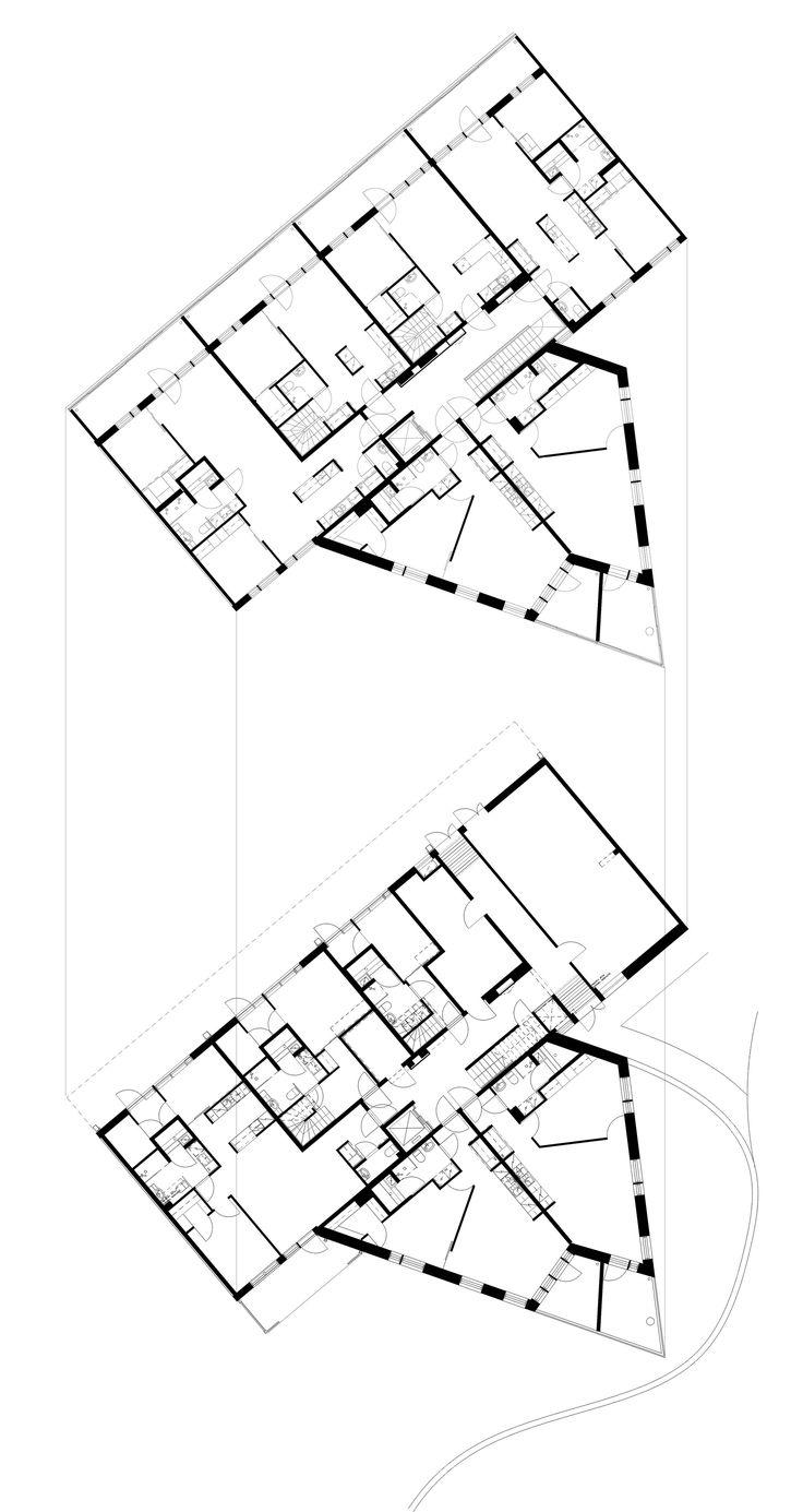 28 best manzana residencial images on pinterest floor plans
