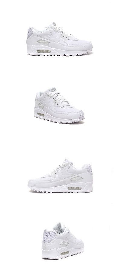 Men Shoes: Nike Men S Air Max 90 Leather Shoes New Authentic White 302519-113 -> BUY IT NOW ONLY: $82.59 on eBay!