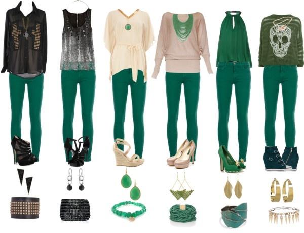 El verde esmeralda es el color del 2013 ¡Aquí 06 maneras de combinar un pantalón de este tono!
