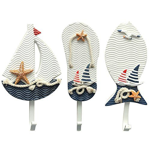 Aligle Tm Large Art Hook Wooden Nautical Coat Hat Clothes Towel Wall Hooks Hangers Hanging Decoration Wall Mounted Key Hook Metal Home Decor 3pcs Mediterranean Style Slippers Sailing Fish Utility Hook Aligle http://www.amazon.com/dp/B01B1GQLEU/ref=cm_sw_r_pi_dp_r2PWwb0VVPQ1X