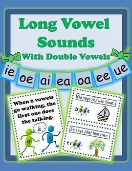 Long Vowels Sounds Activities with Double Vowels