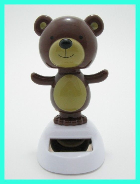 Solar Toys Valentine : Solar dancing bear novelty toy bubble head crazy dancer