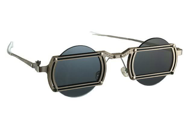 Hi Tek round metal sunglasses unisex Goth Steampunk unusual  $235 $118