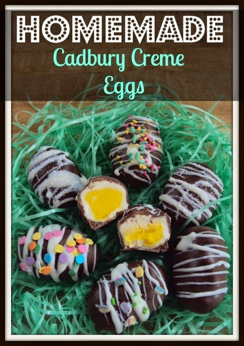 Easter Homemade Cadbury Creme Eggs recipe with gourmet products from ...