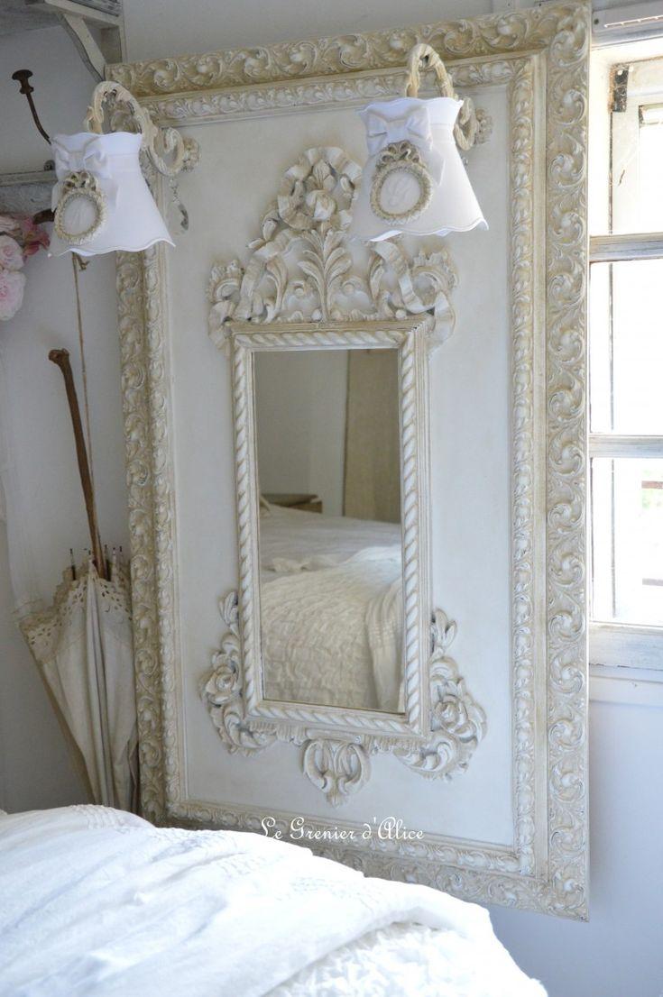Les 25 meilleures id es concernant miroir shabby chic sur for Cadre miroir
