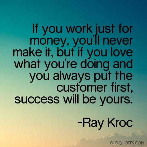 quotes Ray Kroc - Google Search