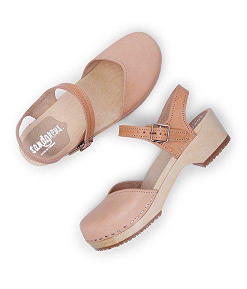 5ed957b82fd Amazon.com | Sandgrens Swedish Wooden Low Heel Clog Sandals For Women |  Saragasso | Platforms & Wedges