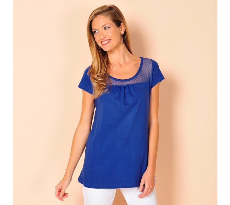 Tričko s puntíkovanou vsadkou | vyprodej-slevy.cz #vyprodejslevy #vyprodejslecycz #vyprodejslevy_cz #tshirt