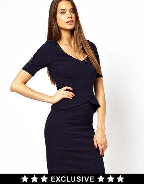 Vesper dress with peplum